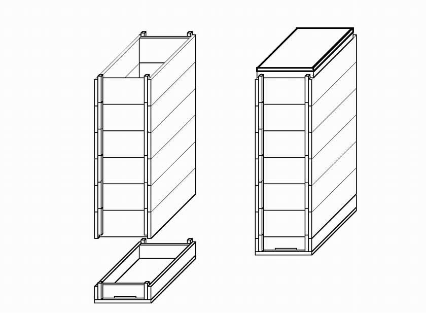 Рогатый улей чертежи 8 рамочный на рамку 145 мм